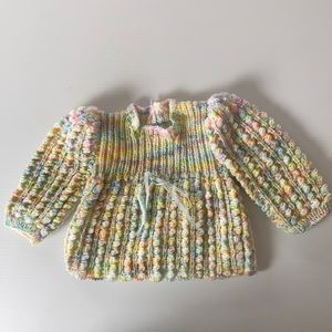 Handmade girl knitted dress/long sleeved top 000